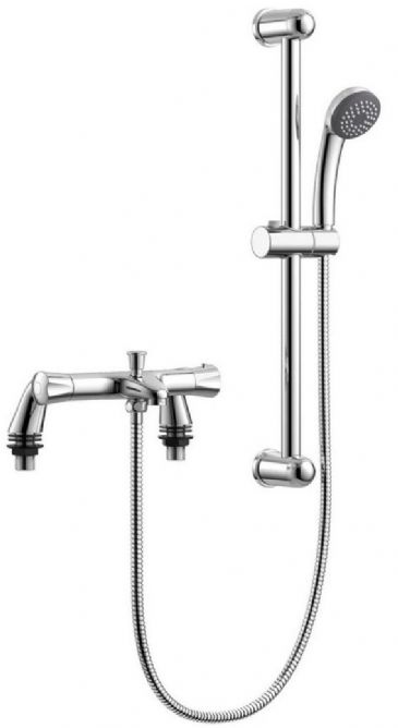 DECK THERMOSTATIC MIXER WITH BATH FILLER